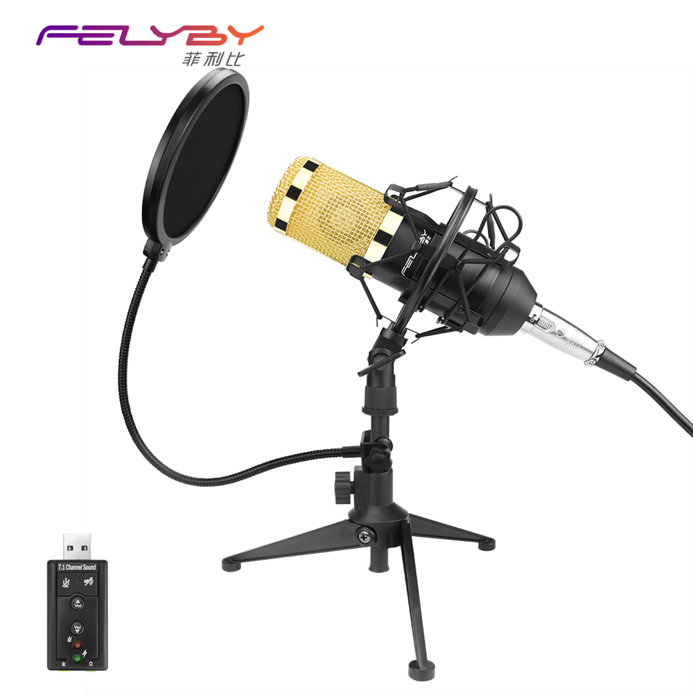 Fashion BM 800 Microphone Microphone Professional Recording Condenser Microphone 2017 New Listing Portable Send A Small