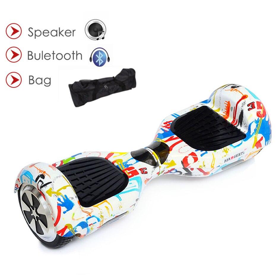 סקייטבורד חשמלי Gyroscooter Hoverboard 6.5 Inch Bluetooth רמקול Electrico Hoverboard שני גלגל קטנוע קטנוע איזון-בקורקינטים עם איזון עצמי מתוך ספורט ובידור באתר
