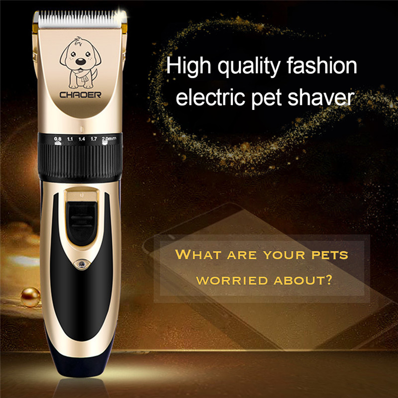 Rechargeable Low-noise Cat Dog Hair Trimmer Electrical Pet Hair Clipper Remover Cutter Grooming Pets Haircut Machine 3