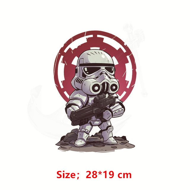 NEW Cartoon STARWAR Patch for clothing 28*19 cm iron on patches Diy child T-shirt  thermal transfer poster sticker