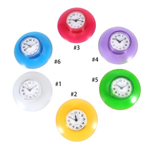 Shower Clock Silicone Bathroom Kitchen Shower Suction Wall Clock Multicolor Water-Resistant Timer Glass Wall Window Mirror(China)
