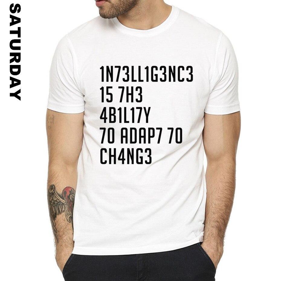 Stephen Hawking Formale Zitate Intelligenz Design Lustiges T-shirt für Männer und Frauen, Unisex Grafik Premium T-Shirt männer Streewear