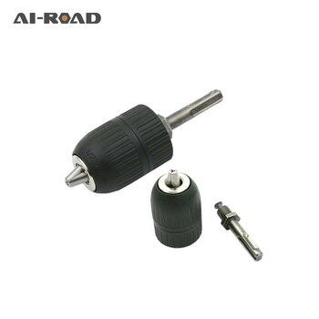 цена на 2-13MM Drill Chuck Keyless Drilling Quick Change Bit Adapter Converter Adaptor Hardware Tool Accessories Wrench Conversion 1/2