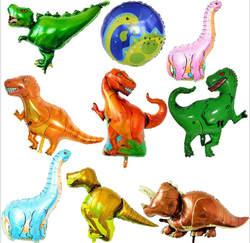 Гигантский динозавр фольги воздушный шар Мальчики животные воздушные шары динозавр день рождения Юрский Мир украшения шар мультфильм