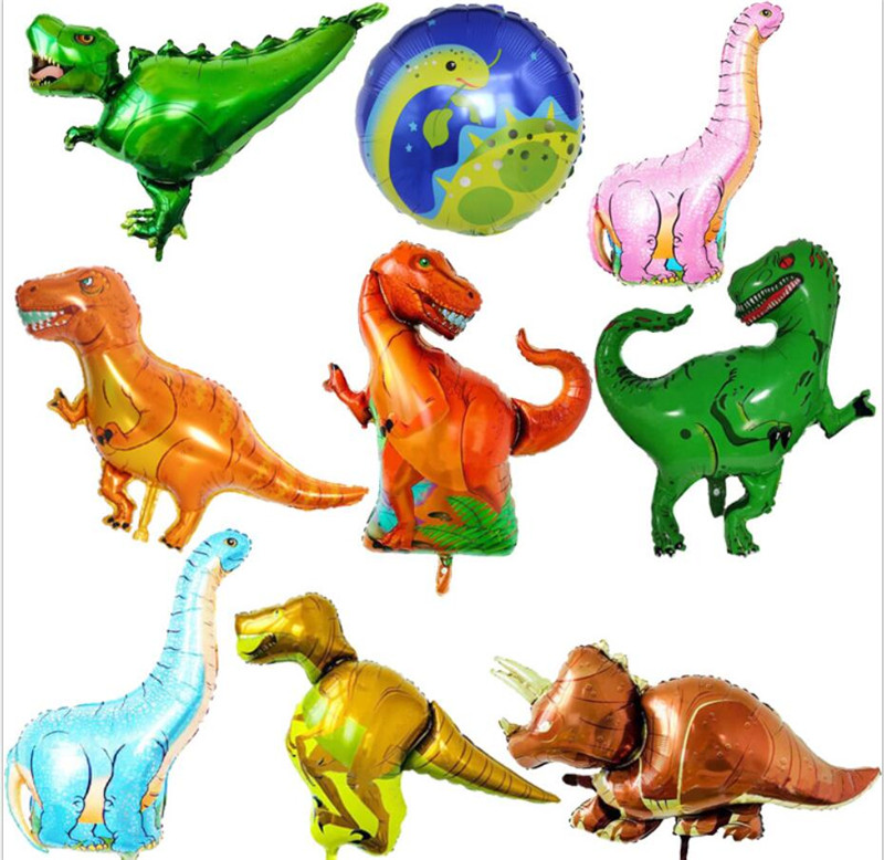 Giant Dinosaur Foil Balloon Boys Animal Balloons  Dinosaur Birthday Party Jurassic World Decorations Balloon Cartoon Hat
