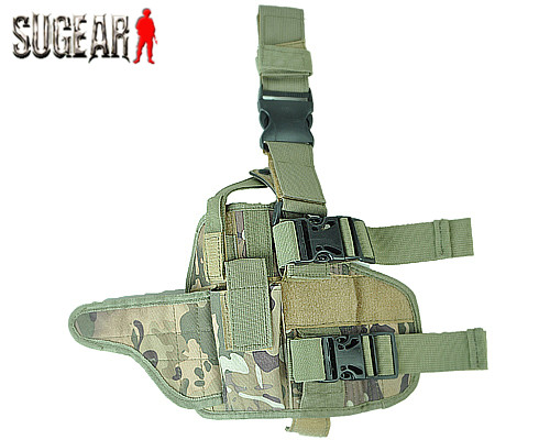 Airsoftsports Universal Pistola Táctica Bolsa de Pierna de La Gota Right Hand Ho
