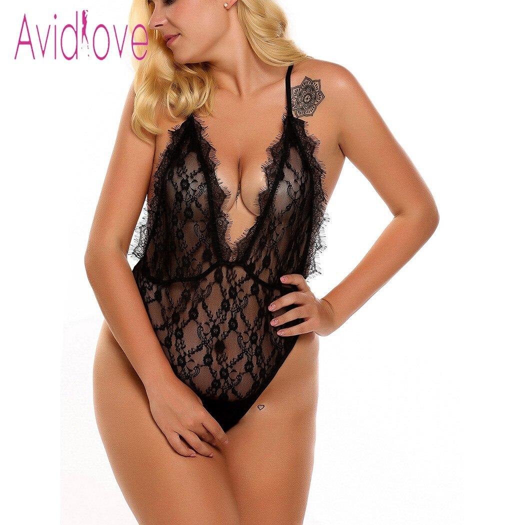 Buy Avidlove Plus Size Sex Underwear Babydoll Lingerie Sexy Hot Erotic Body Suit Women Lace Sleepwear Nightwear Porn Costume Nighty