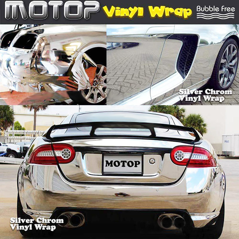 12x60inch 30*152CM DIY Car Vehicle 3D Vinyl Film Wrap Sticker Decal Silver Chrome