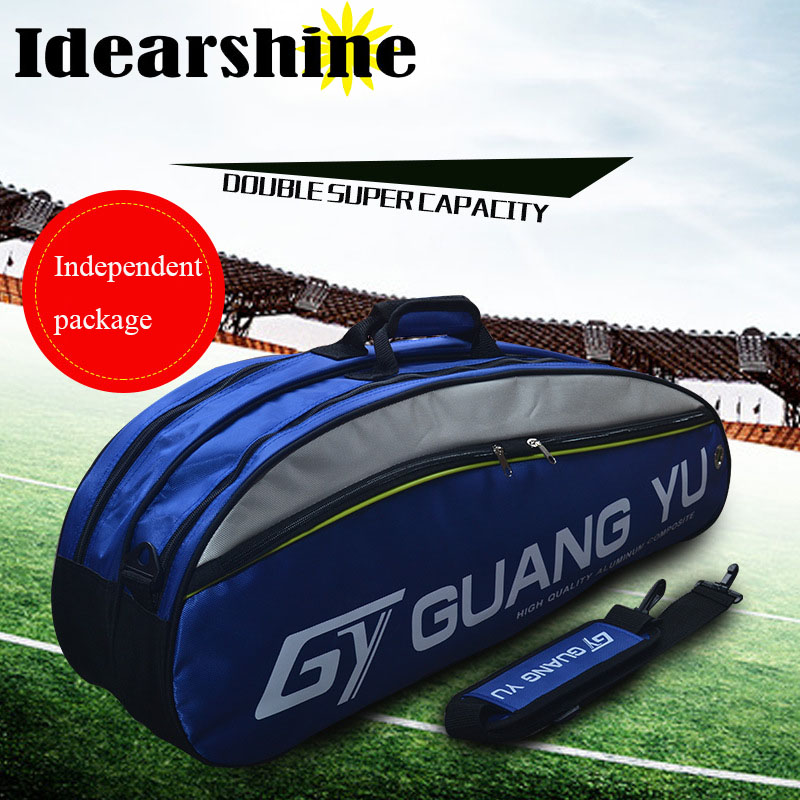 100% Genuine Original Brand Raquete Tennis bag New Tennis Bag 6 Pieces Of Equipment Badminton racket bag #7111