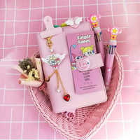2020 A6 Cute girl Kawaii Spiral 6 Holes Notebook Traveler Planner Pocket HandBook Loose-leaf binder Daily Agenda Diary Gift Bujo