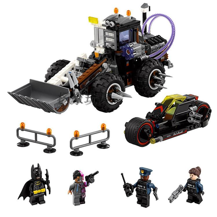 Lepin 07082 Batman Movie Two-Face Double Demolition Navvy Bat Rooter Building Blocks Bricks Compatible Legoings Batman 70915