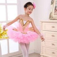 New Sequin Professional performance Ballet Tutu Costume Girls Children Ballerina Dress Kids Ballet Dress Dancewear Dance Dress