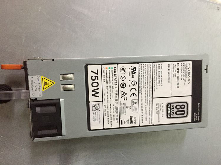 все цены на  Original R720 R520 R620 750W Server Power Supply 0CC6WF 0YT39Y 05NF18 F750E-S0  онлайн