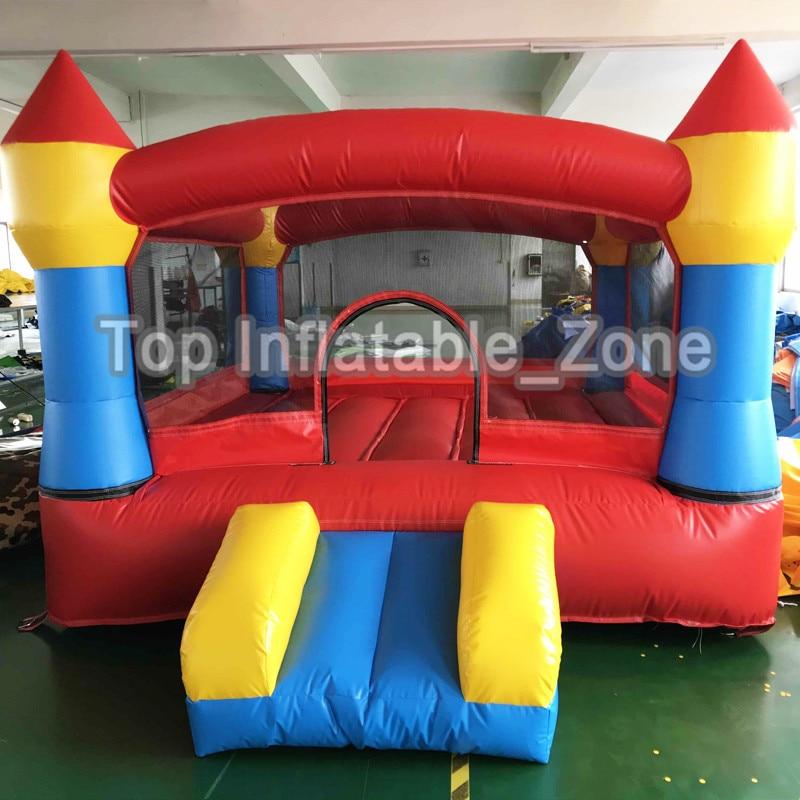3x3x2 m châteaux gonflables châteaux pleins d'entrain sautant le videur gonflable de maison de rebond de château avec la glissière pour le jeu d'amusement d'enfants