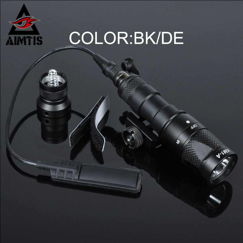 AIMTIS SureFir M300V Scout Light LED IR 20mm Rail Flashlight NV Infrared Output Rifle Tactical Weapon Light for Hunting Armas greenbase tactical m300 m300b mini scout light outdoor rifle hunting flashlight 400 lumen weapon light led lanterna