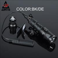 Aimtis surefir M300Vスカウトライトled ir 20ミリメートルレール懐中電灯定モメンタリ出力ライフル戦術武器ライト用狩