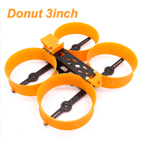 Donut 3inch 140 140mm Frame Kit Mini Drone H Type Frame with 3D TPU Print Parts Prop Guard for 1306 1407 Motor FPV RC Parts