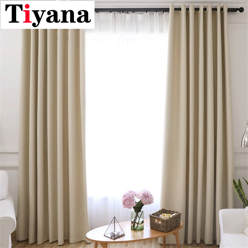 Solid Modern Blackout Curtains For Door Blinds Window Drapes High Shading Curtains For Living Room Bedroom Single Panel P092X|Curtains|   - title=