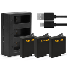 Shoot 3 Ports Charger For GoPro Hero 6 5 Black