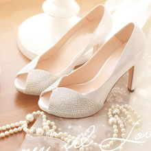 Lastest Peep Toe Fashion Dress Shoes Spring High Heel Office Lady Shoes Wedding Dress Shoes Graduation Party Prom Shoes