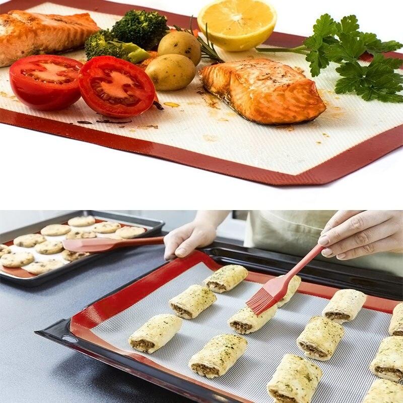 Rapture Non-stick Silicone Baking Mat Pad 42*29.5cm Baking Sheet Glass Fiber Rolling Dough Mat For Cake Cookie Macaron Wxv Sale Save 50-70% Home & Garden Baking Inserts