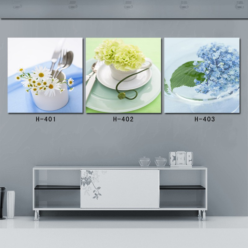2016 Real New Arrival Canvas Painting 3 Piece Canvas Wall Art Painting Fruit Kitchen For Dining Room Restaurant Decor Supply