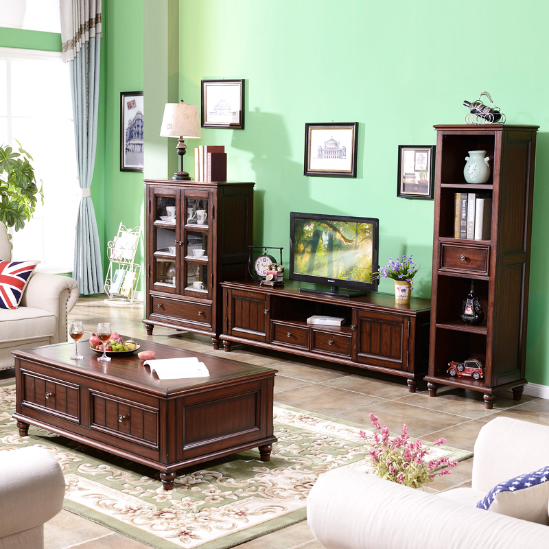 Apartment Furniture: American Solid Wood Coffee Table Small Apartment Living
