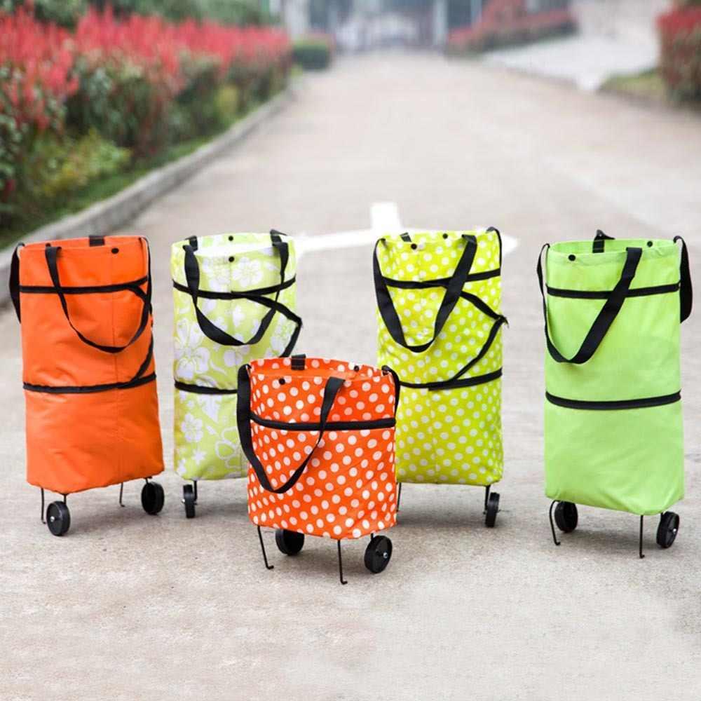 من المألوف سعة كبيرة مقاوم للماء أكسفورد القماش عربة تسوق قابلة للطي عجلة حقيبة السفر عربة الأمتعة حقيبة