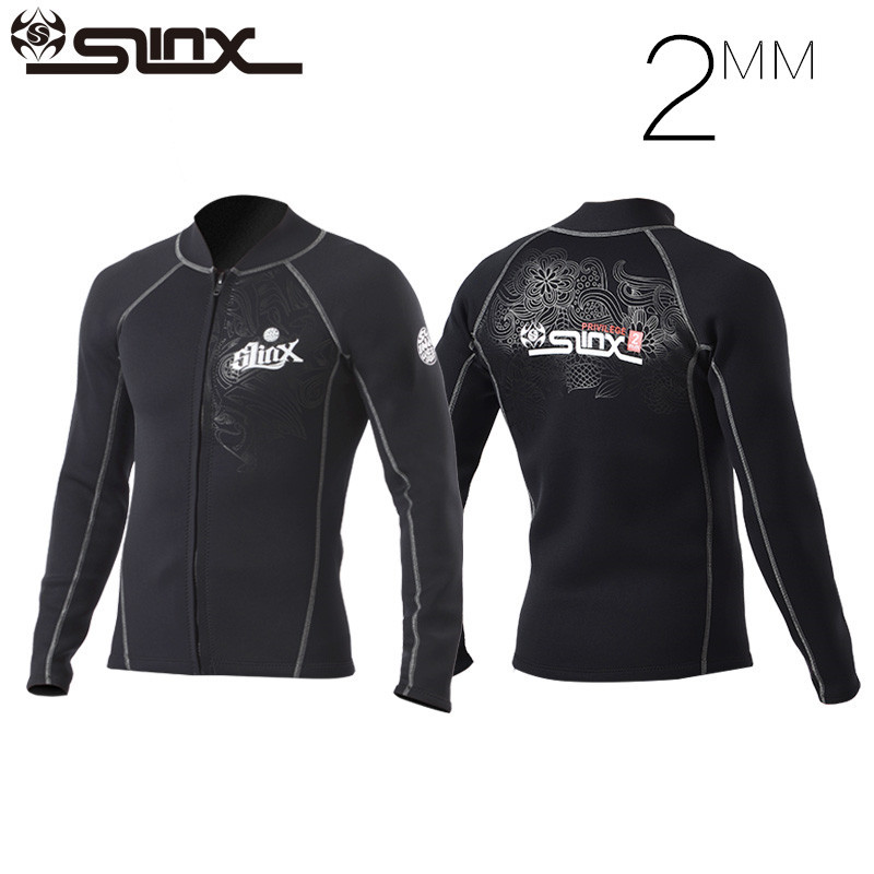 Slinx 2mm Neoprene Scuba Dive Clothing Snorkeling Jacket Wetsuit Top Coat  High Elastic Spearfishing Kite Surf fecc294b9