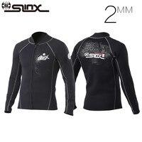 Slinx 2mm Neoprene Scuba Dive Clothing Snorkeling Jacket Wetsuit Top Coat High Elastic Spearfishing Kite Surf Windsurf Swimwear