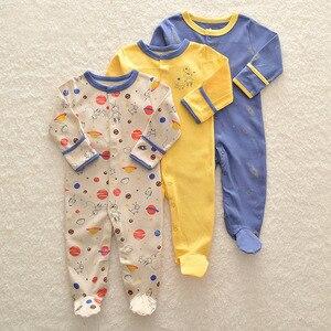 Image 5 - Комбинезон для новорожденных мальчиков, 3 шт./лот, зимний комбинезон для маленьких девочек 0 12 месяцев, одежда из 100% хлопка, теплая одежда для младенцев, детская одежда высокого качества