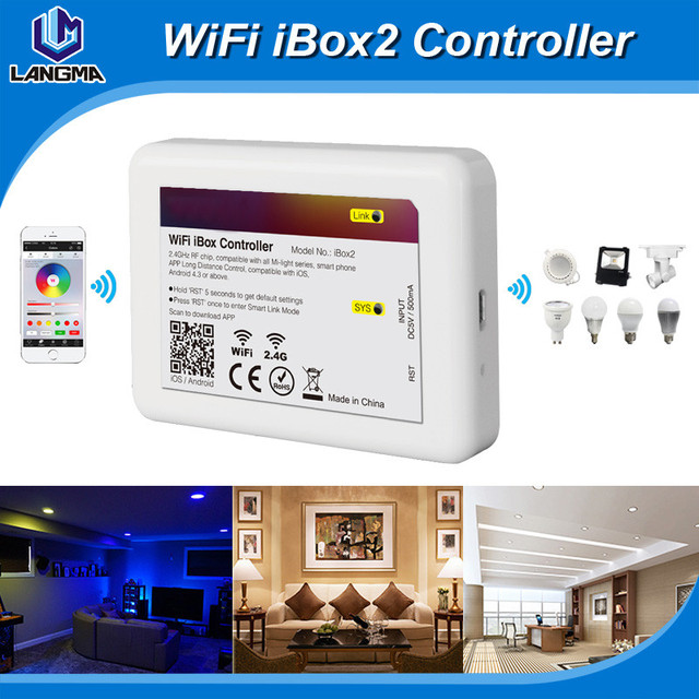 2017 Cheapest 2.4G Wireless RF Mi.light WIFI Controller For RGBW Bulbs, Milight