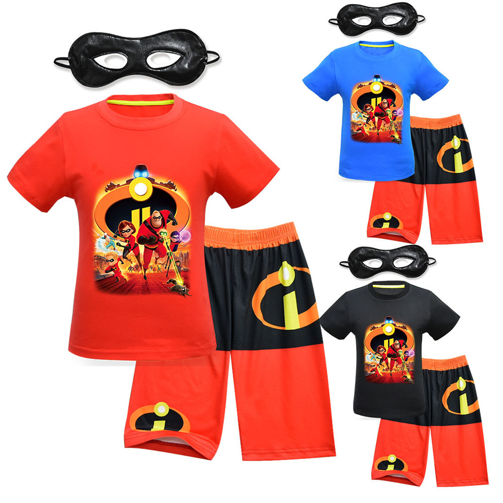 7ecf86e6984a 1 Kids Clothing Set Boys Girls T Shirt Pants Child Top T shirt Sports Suit  Tracking Suit /mask Cosplay Costume on Aliexpress.com | Alibaba Group