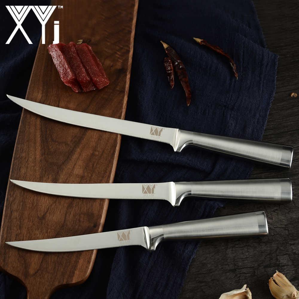 XYj nóż filetowy rybny 3cr13 nóż kuchenny ze stali nierdzewnej japoński łosoś Sashimi noże Eviscerate Fish Boing Cutter narzędzie do gotowania