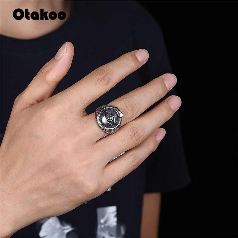 Otakoo mode hommes satanique oeil anneau mal diable Talisman Punk Rinf anneau en acier inoxydable