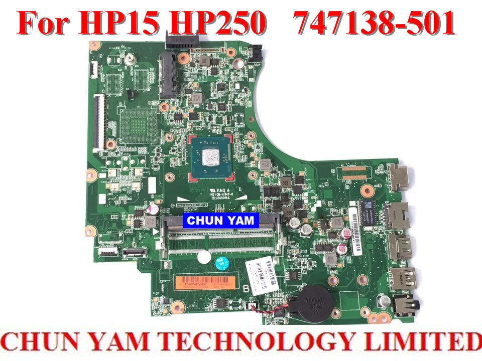 Wholesale laptop motherboard 747138 501 for HP 15 250 747138 001 Notebook PC Mainboard systemboard 100