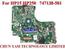 En gros ordinateur portable carte mère 747138-501 pour HP 15 250 747138-001 NOTEBOOK PC Mainboard systemboard 100% Testé 90 Jours de Garantie
