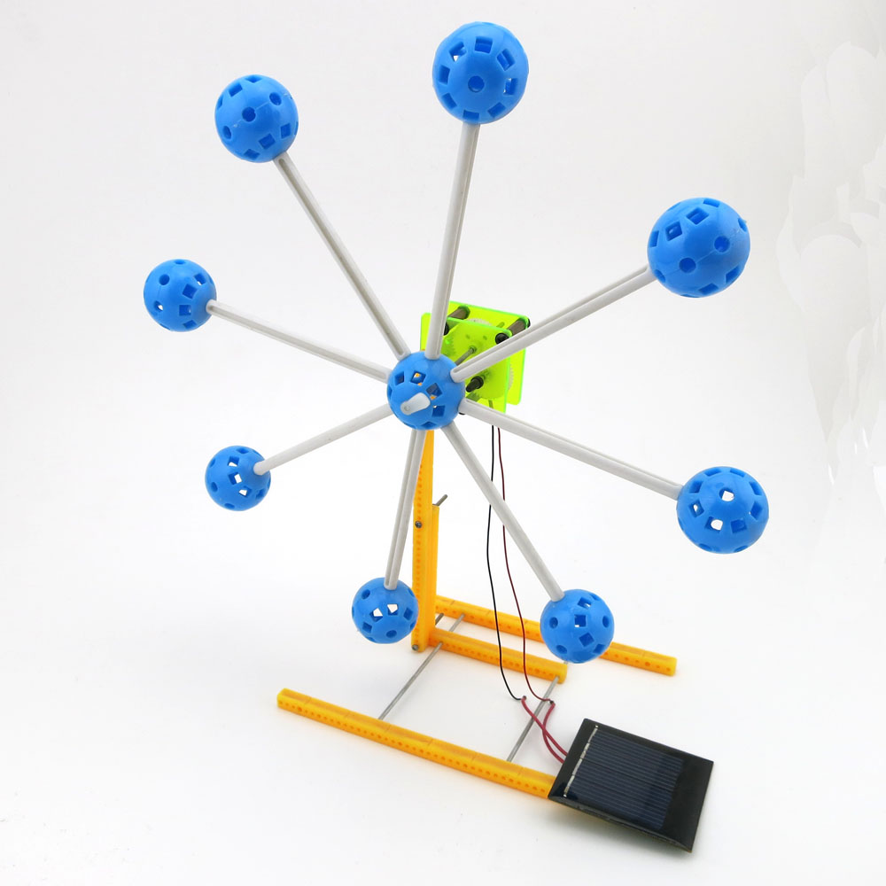 F17930 Solar Power Invention Kit Small Toy Gift Ferris Wheel Building Model 4WD Smart Robot Car Chassis RC Toy solar power cute wheel paddle boat model 2 green energy intelligent diy toy