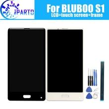 5.5 inç BLUBOO S1 LCD ekran + dokunmatik ekran Digitizer + çerçeve meclisi 100% orijinal LCD + dokunmatik Digitizer için BLUBOO S1