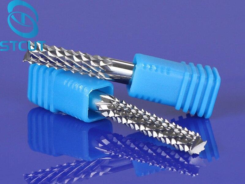 1 pc 6/8mm Bon Qualtiy De Tungstène Acier Fraise Carbure Gravure maïs Dents Bits CNC PCB Rotatif Bavures Fraise Forage peu
