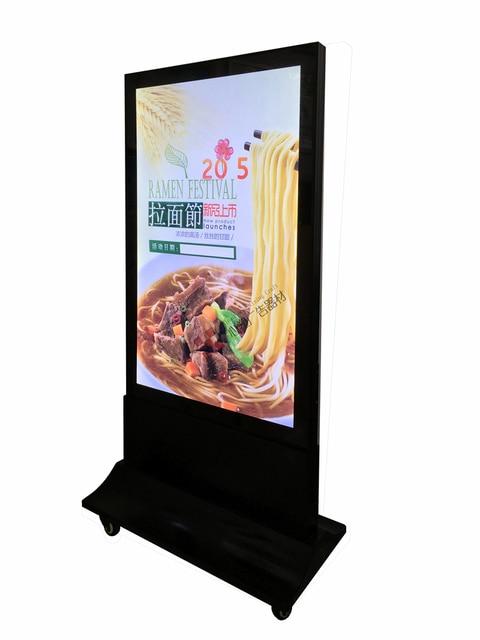 Aliexpress Buy Outdoor Free Standing LED Restaurant Menu Slim Custom Free Standing Signs Displays