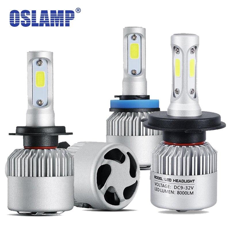 Oslamp H4 H7 H11 Led Car Headlight 72w 8000lm 6500k Cob Led Car Bulbs 9005 Hb3 9006 Hb4 H3 H1 Led Headlamp Auto Led Light 12v Automobiles & Motorcycles