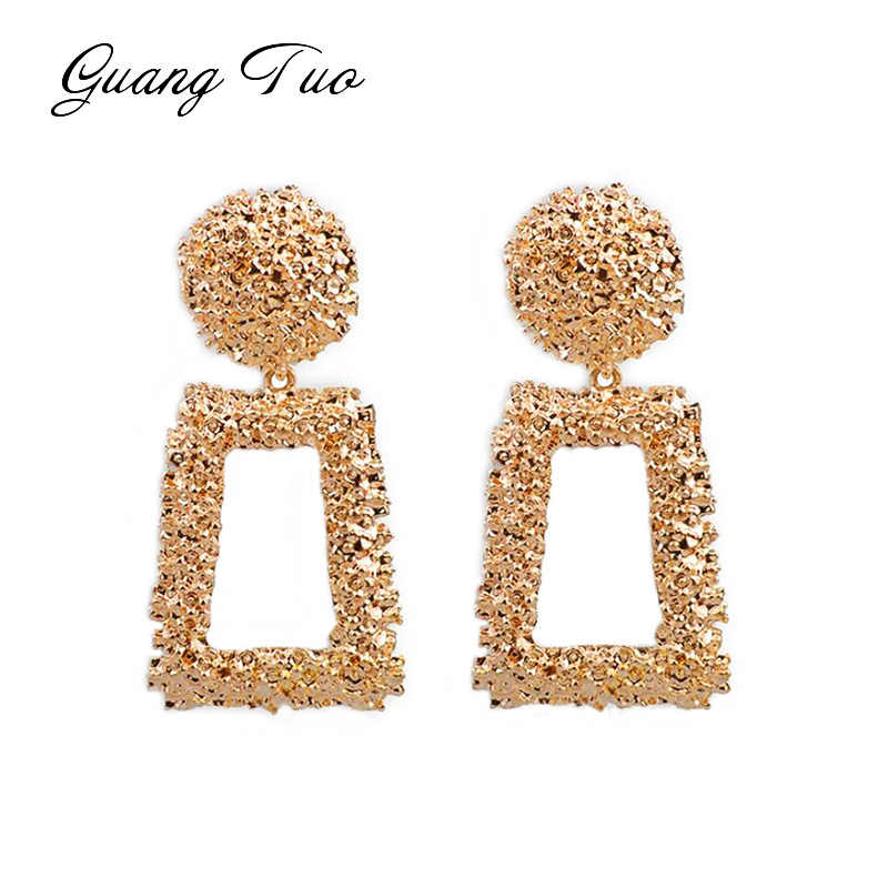 ES171 Personality Exaggerated Metal Earrings For Women Fashion Jewelry Creative Uneven Metal Earrings Night club Party Accessory