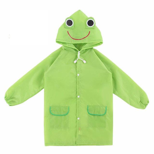 1PC Cartoon Animal Style Waterproof Kids Raincoat For Children Rain Coat Rainwear/Rainsuit Student Poncho