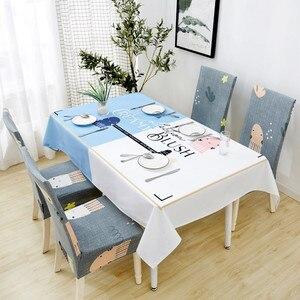 Image 2 - Parkshin 2019 Neue Nordic Deer Tischdecke Home Küche Rechteck Wasserdicht Tischdecken Partei Bankett Esstisch Abdeckung 4 Größe