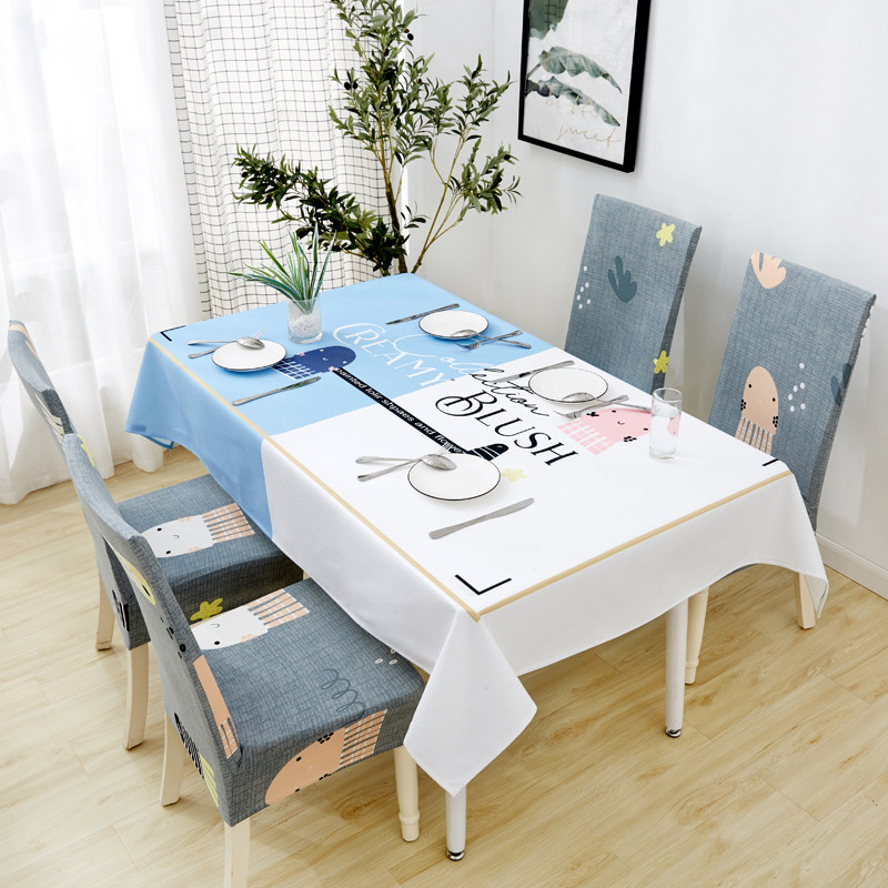 Image 2 - Parkshin 2019 New Nordic Deer Tablecloth Home Kitchen Rectangle Waterproof Table Cloths Party Banquet Dining Table Cover 4 Size-in Tablecloths from Home & Garden
