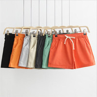 Free shipping Women's Cotton Casual Shorts Trousers 2 pieces