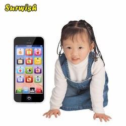 Surwish Сенсорный экран Многофункциональная игрушка-телефон 5S английского языка Playmobil с Dazzle Цветной свет малыша Детские игрушки