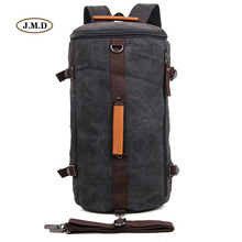 J.M.D Fashion New Style Mountainering Rucksack Mens Hiking Camping Backpack Bucket Shoulder Canvas Bag 9036