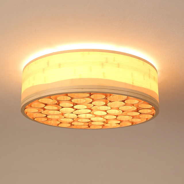 Modern minimalist bamboo ceiling lights round creative living bed modern minimalist bamboo ceiling lights round creative living bed room suspension art deco rural country aloadofball Images